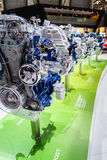 Car engine on display, Motor Show Geneve 2015. Royalty Free Stock Image