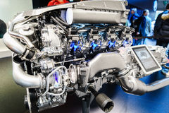 Car engine on display Royalty Free Stock Photos