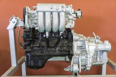 Car engine on fair stand Royalty Free Stock Images
