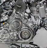 Car engine front view Stock Photos