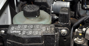 Car engine fuse box Stock Images