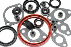 Car engine gaskets Royalty Free Stock Photo