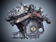 Car engine on grey background Stock Photography