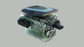 Car engine isolated Stock Photography