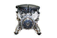 Car engine isolated. The auto Car engine isolated Stock Photo