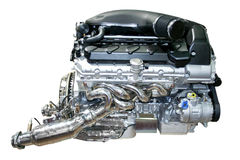 Car engine isolated. The auto Car engine isolated Royalty Free Stock Photos