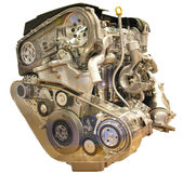 Car engine isolated Royalty Free Stock Images