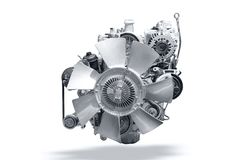 Car engine isolated font view isolated. Car engine isolated font view with clipping path stock photo