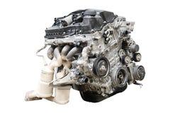 Car engine isolated. Under the white background stock photography