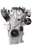 Car engine isolated. On white royalty free stock photos
