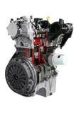 Car engine isolated on white. Background stock image