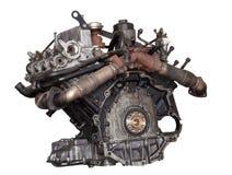 Car engine isolated on white background. Modern engine royalty free stock photo