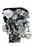Car engine isolated on white. Four cylinder car engine isolated on white background stock images