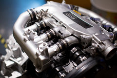Car engine. The main part of the close-up of the engine Stock Image