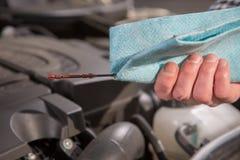Car Engine Oil check Stock Photos