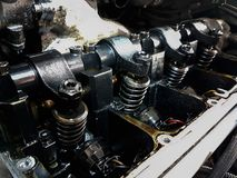 Car engine open pistons car service. 2 Stock Image