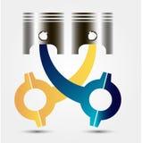 Car engine piston. Vector illustration. For graphics and design vector illustration