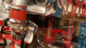 Car engine piston work stock video footage