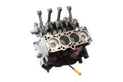 Car engine and pistons Royalty Free Stock Image