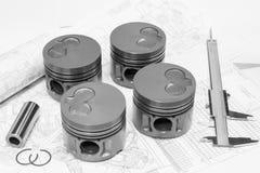 Car engine pistons Royalty Free Stock Image