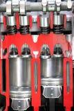 Car engine pistons Stock Photos