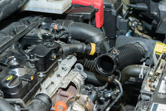 Car engine repair. Details of parts of car engine Royalty Free Stock Photo