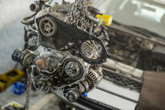 Car engine in the service Stock Images