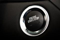 Car Engine Start Button Royalty Free Stock Images