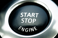 Car engine start and stop button Stock Photography