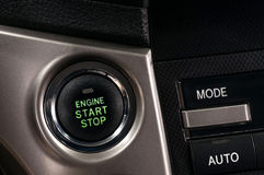 Car engine start and stop button. Royalty Free Stock Image
