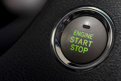Car engine start and stop button. Stock Images