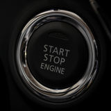 Car engine start and stop button. Royalty Free Stock Photo