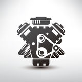 Car engine symbol Royalty Free Stock Photography