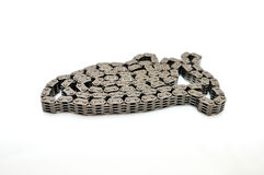 Car engine timing chain. royalty free stock photos