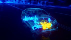 Car engine transmission royalty free illustration