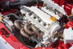 Car engine - under the hood Royalty Free Stock Photo