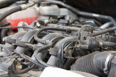 Car engine under Royalty Free Stock Photography