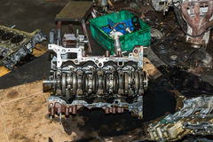 Car engine under repair Stock Photography