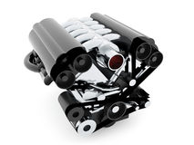 Car engine on white background Stock Image