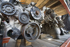 Car Engines In Junkyard Royalty Free Stock Images