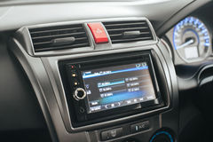 In car entertainment. In a budget asian car. This is OEM Royalty Free Stock Images