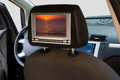 Car entertainment system Royalty Free Stock Image