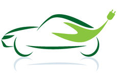 Car.eps verde Imagens de Stock Royalty Free