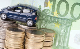 Car and Euro Money Royalty Free Stock Photo