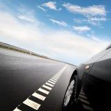 Car on the european autoban Royalty Free Stock Image