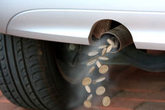 Car exhaust Stock Images