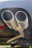Car exhaust closeup Royalty Free Stock Images