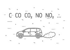 Car exhaust fumes vector illustration Stock Photography