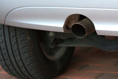 Car exhaust pipe Royalty Free Stock Photo