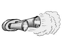 Car exhaust pipe. Hand drawn, illustration of car exhaust pipe Stock Photo